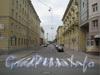 Перспектива Конторской ул. от Среднеохтинского пр. в сторону Большеохтинского пр. Фото 2011 г.