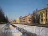 Перспектива ул. Лётчика Пилютова в сторону ул. Чекистов от дома 32. Фото февраль 2012 г.