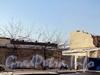 12-я Красноармейская ул., д. 26, лит. А. Здания мебельной фабрики «Ладога». Вид на дворовый производственный корпус после демонтажа. Фото 10 февраля 2012 г.