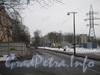 Перспектива Новоовсянниковской улицы от Севастопольской ул. в сторону пр. Стачек. Фото февраль 2012 г.