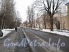 Перспектива Севастопольской ул. от перекрёстка с ул. Белоусова в сторону  ул. Трефолева. Фото февраль 2012 г.