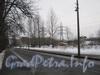 Перспектива Новоовсянниковской ул. от дома 17 в сторону пр. Стачек и вид на строящийся ЗСД. Фото февраль 2012 г.