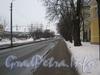 Перспектива Новоовсянниковской ул. от дома 17 в сторону Баррикадной ул. Фото февраль 2012 г.