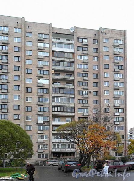 Ул. Димитрова, д. 6 корп. 1. Фрагмент фасада. Фото октябрь 2011 г.
