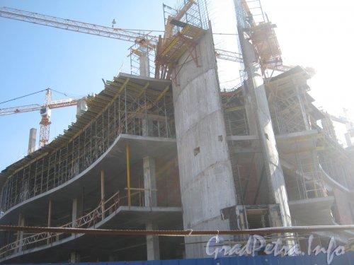 Ул. Ленсовета, дом 101 литер А. Строительство здания. Фото май 2012 г. со Звёздной ул.