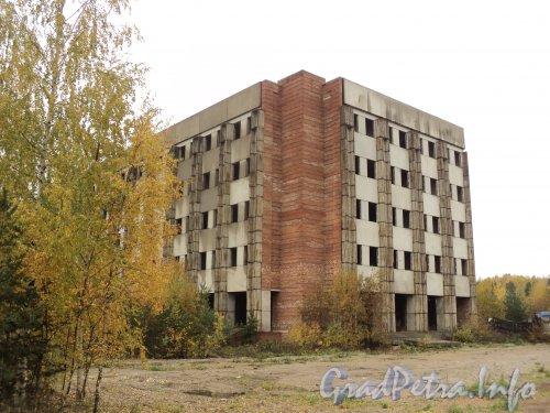 Заповедная ул., дом 51. Долгострой (производственные корпуса). Фото октябрь 2010 года.