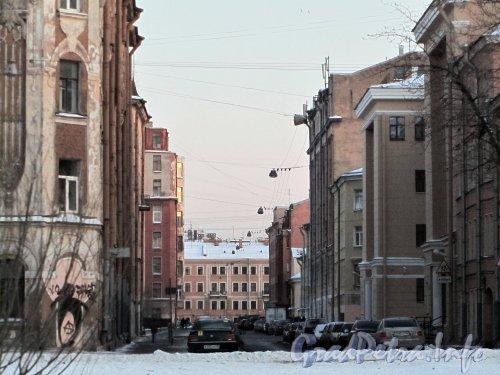 Перспектива улицы Володи Ермака от реки Пряжки в сторону канала Грибоедова. Фото февраль 2012 года.