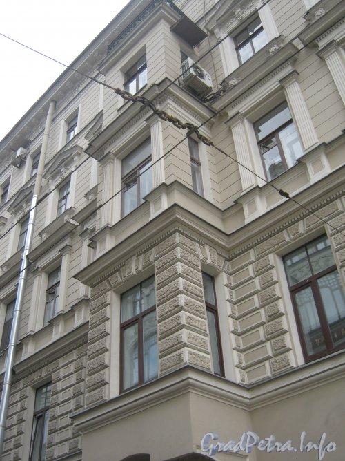 Гороховая ул., дом 16. Эркер со стороны фасада. Фото 21 августа 2012 г.