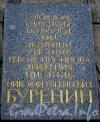 Рузовская ул., дом 3. Мемориальная доска Н.Е. Буренину на фасаде дома. Фото 30 июня 2012 г.