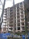 Ул. Академика Лебедева, дом 37а, литера Б. Фрагмент строящегося здания. Фото 2 ноября 2012 г.
