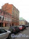 Канонерская улица, дом 27. Угол Канонерской улицы и Английского проспекта. Вид дома со стороны Канонерской улицы. Фото апрель 2013 г.
