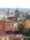 Г. Выборг, Крепостная ул., дом 5а. Часовая башня. Вид с башни Святого Олафа. Фото 19 августа 2012 г.