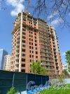 Краснопутиловская улица, дом 113, корпус 1. Построено 16 этажей из 25. Продажа квартир 963-39-13. Фото 28 мая 2013 г.