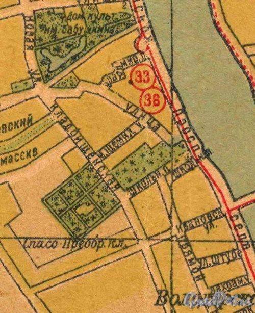 Спасо-Преображенское кладбище на карте 1939 года.