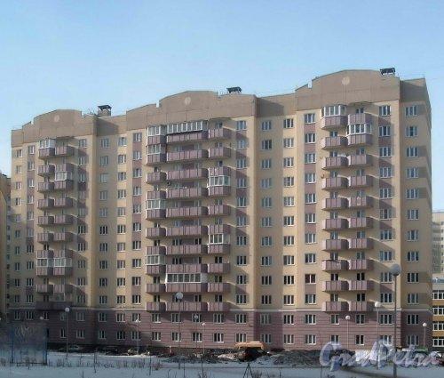 Улица Маршала Захарова, дом 16, корпус 3. Фасад со стороны улицы. Фото 3 марта 2013 г.