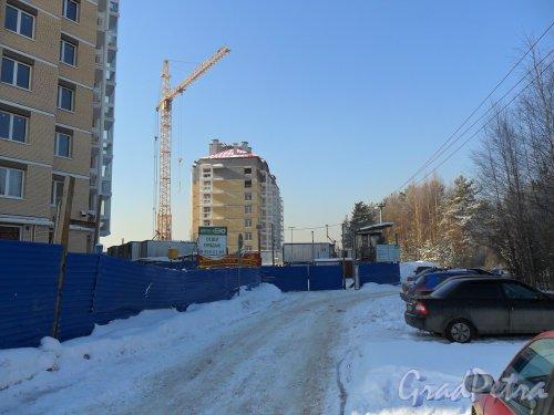 Леннградская улица, город г. Всеволожск, микрорайон Южный, улица Аэропортовская, дом 14. Строительство жилого дома.