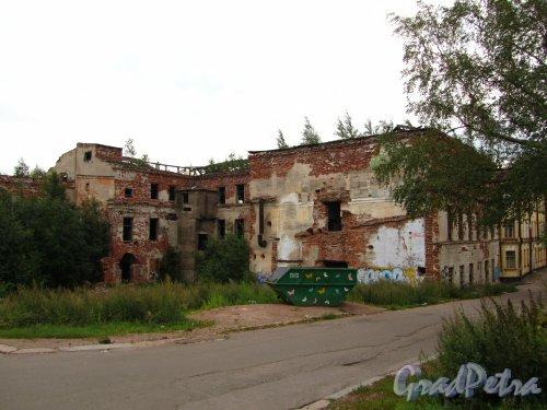 Г. Выборг, Красноармейская ул., дом 10А. Общий вид со стороны улицы Красина. Фото 19 августа 2012 г.