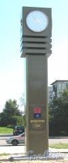Лен. обл., Приозерский р-н, г. Приозерск, Привокзальная ул. Памятник-часы.