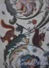 Миллионная ул., д. 35. Здание Нового Эрмитажа. Галерея истории древней живописи. Фрагмент росписи стены. Фото апрель 2011 г.
