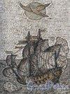 Ул. Рубинштейна, д. 4. Доходный дом П. К. Палкина. Мозаичное панно на дворовой стене. Фото май 2011 г.