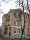 Город Пушкин, Железнодорожная ул., дом 12. Фрагмент фасада. Фото 1 марта 2014 г.
