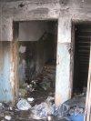 г. Красное Село, ул. Равенства, дом 7. Фрагмент сгоревшего и заброшенного здания школы изнутри. Фото 24 февраля 2014 г.