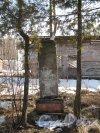 Напротив дома 12 по улице Вологдина когда-то стоял бюст В. И. Ленина. Теперь остался только обезображенный постамент. Фото апрель 2012 г.