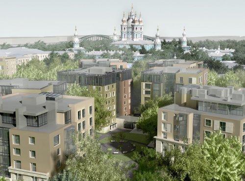 ул. Смольного, дом 4. Строительство жилого комплекса «Смольный парк» II очередь. Фото 2013 года.