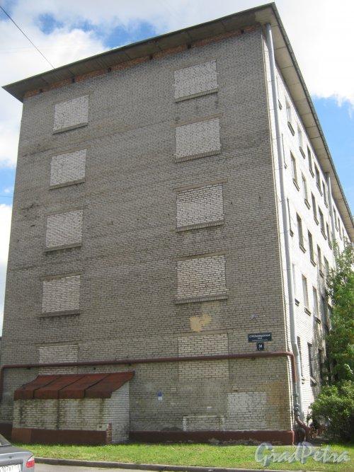 Стрельбищенская ул., дом 30. Фрагмент здания. Вид с Козловского пер. Фото август 2013 г.