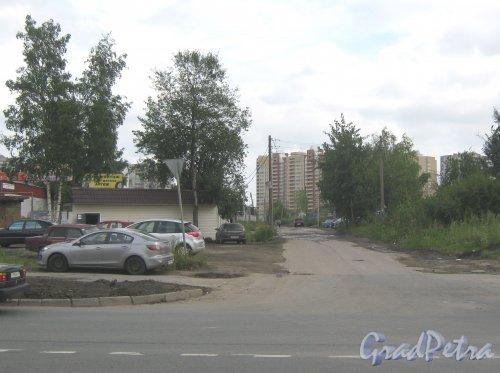 Складская улица. Перспектива от Зольной улицы в сторону улицы Ворошилова. Фото 23 июля 2013 г.