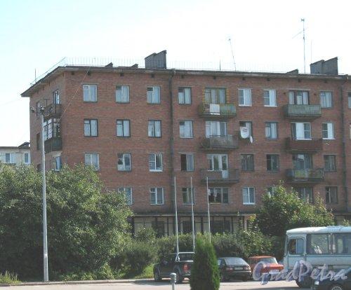 Лен. обл., Приозерский р-н, г. Приозерск, Привокзальная ул., дом 5. Фрагмент здания.