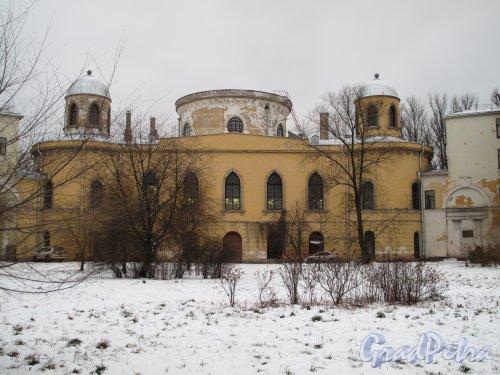 Гастелло ул., д. 15. Чесменский дворец. Вид со стороны ул. Ленсовета. Зима 2013 г