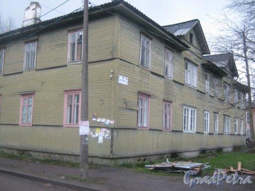 Лен. обл., Гатчинский р-н, г. Гатчина, ул. Урицкого, дом 31. Общий вид здания. Фото 24 ноября 2013 г.