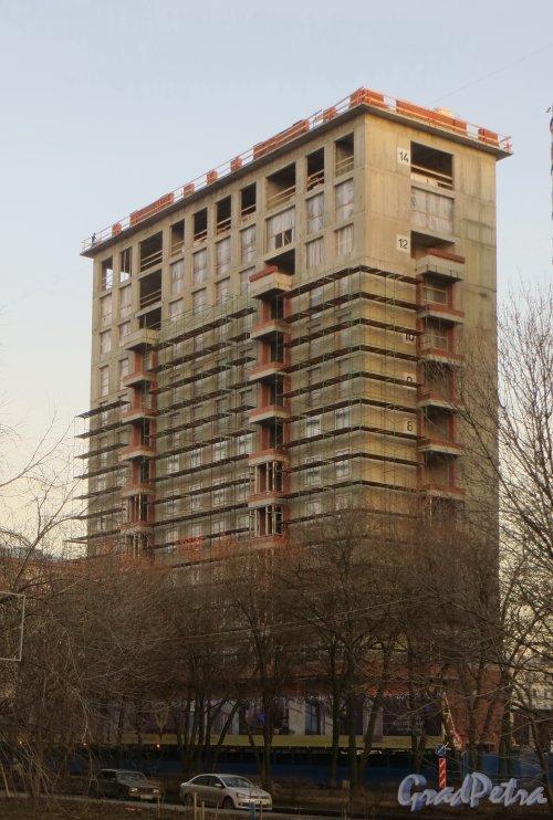 Улица Победы, дом 5. Строительство жилого дома. Фото 25 декабря 2013 года.