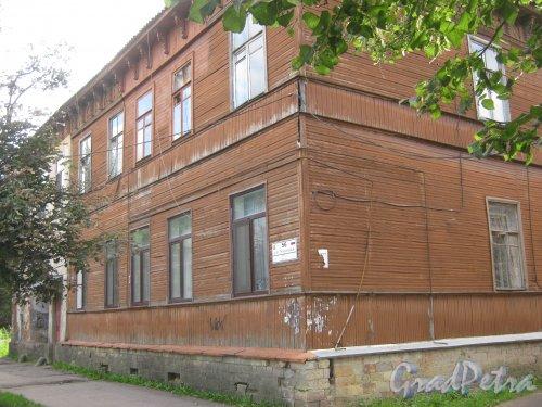 Лен. обл., Гатчинский р-н, г. Гатчина, ул. Чкалова, дом 56. Общий вид здания. Фото август 2013 г.