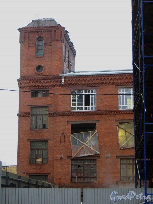 Кантемировская улица, дом 3, корпус 1, литера А. Дворовый флигель. Фото 9 января 2014 года.