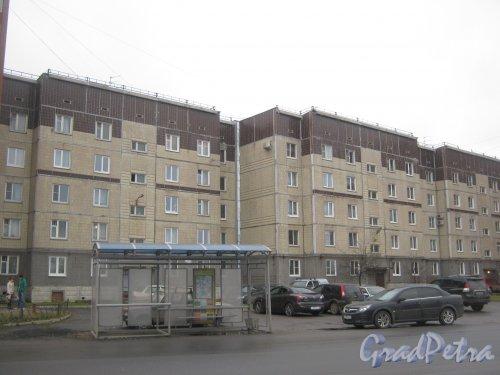 Лен. обл., Гатчинский р-н, г. Гатчина, ул. Генерала Кныша, дом 14. Вид со стороны фасада. Фото 24 ноября 2013 г.
