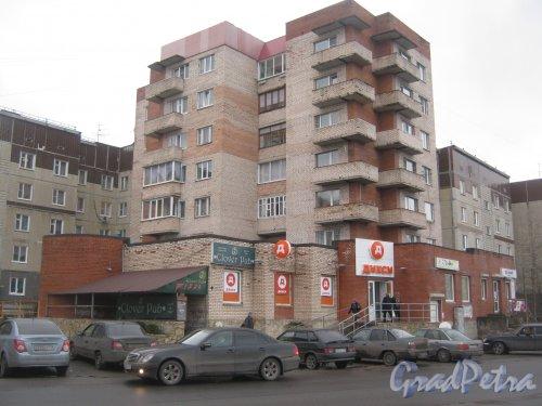 Лен. обл., Гатчинский р-н, г. Гатчина, ул. Генерала Кныша, дом 11. Общий вид здания со стороны фасада. Фото 24 ноября 2013 г.