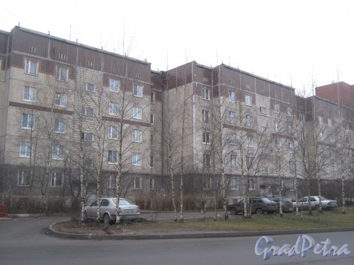 Лен. обл., Гатчинский р-н, г. Гатчина, ул. Генерала Кныша, дом 10. Общий вид здания со стороны фасада. Фото 24 ноября 2013 г.