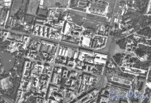 Комплекс зданий «Аракчеевских» казарм. Фрагмент немецкой аэроФотосъемки Ленинграда 1939 года.