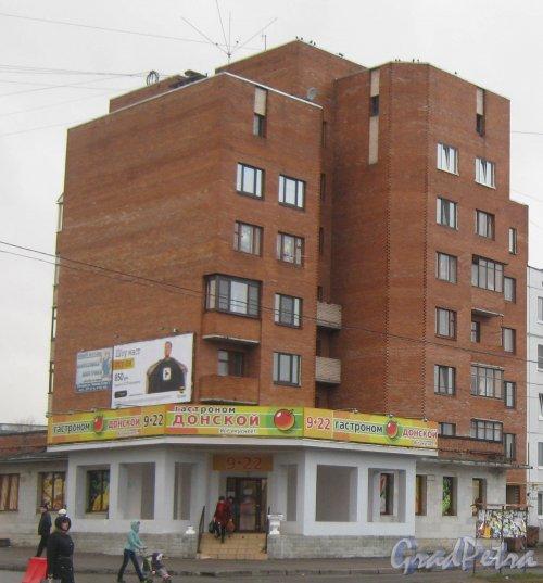 Лен. обл., Гатчинский р-н, г. Гатчина, ул. Генерала Кныша, дом 6. Общий вид здания. Фото 24 ноября 2013 г.