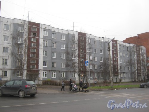 Лен. обл., Гатчинский р-н, г. Гатчина, ул. Генерала Кныша, дом 3. Общий вид здания. Фото 24 ноября 2013 г.