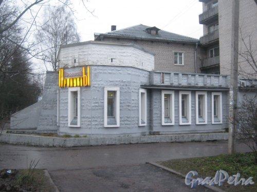 Лен. обл., Гатчинский р-н, г. Гатчина, ул. Гагарина, дом 20. Угловая часть здания. Фото 24 ноября 2013 г.