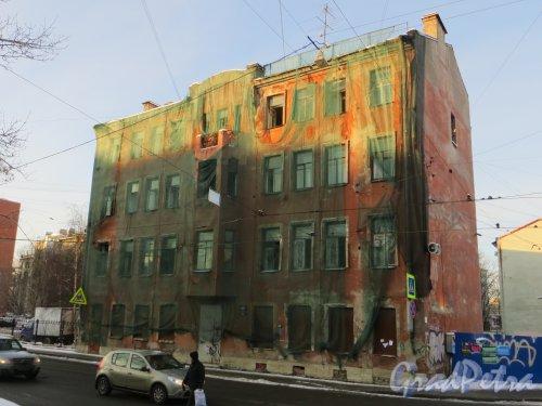 Ул. Мира, дом 36. Фасад расселенного жилого дома со стороны улицы Мира. Фото 24 января 2014 г.