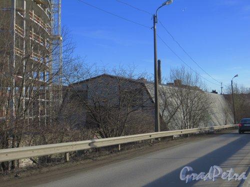 Ташкентская ул., дом 3, корпус 2, лит. В. Общий вид ангара. Фото 11 марта 2014 года.