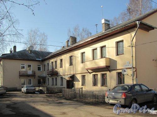 Донецкая ул., д. 3, лит. Б. Вид со двора. Фото апрель 2012 г.