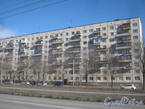 Ул. Доблести, дом 24, корпус 1. Общий вид со стороны фасада. Фото 11 марта 2014 г.