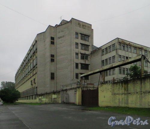 улица Одоевского, дом 8 (нумерация по табличке на здание. По данным РГИС это дом 4, лит. В). Общий вид здания со стороны дома 10. Фото 7 июня 2014 года.