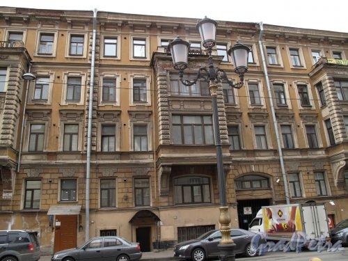 Захарьевская ул., д. 3. Доходный дом И. О. Рубана. Общий вид. Фото март 2014 г.