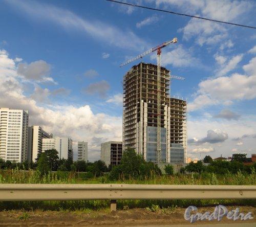 Ташкентская ул., дом 3. Строительство нового офисного здания. Фото 2 июля 2014 года.
